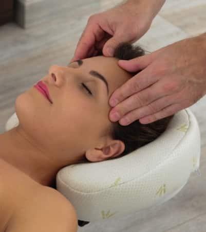 Appuie tête massage